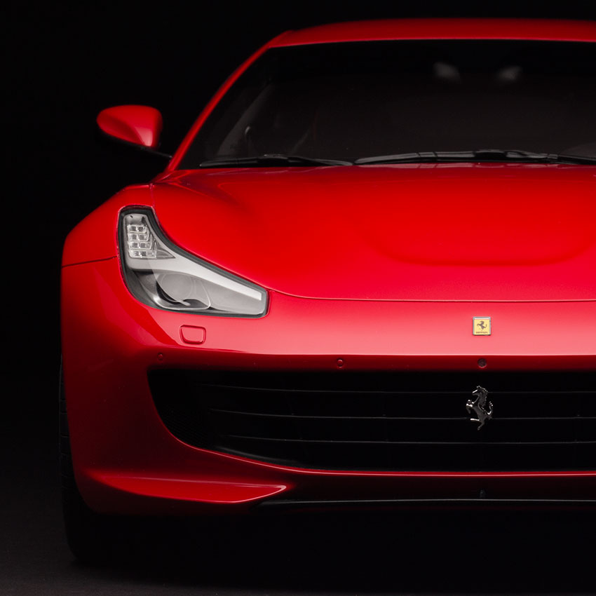 Ferrari image before retouching