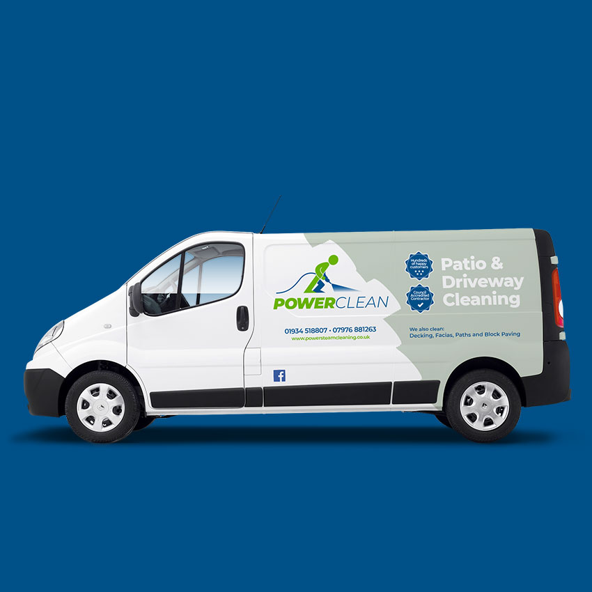 Powerclean van new graphics design